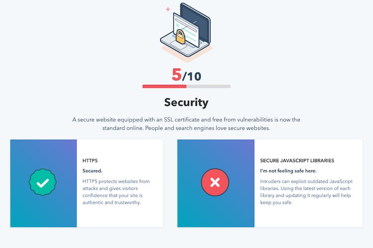 Website Grader Security