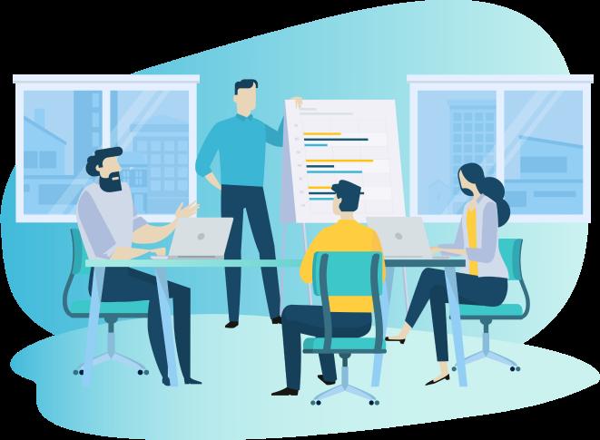 illustration--team-in-meeting